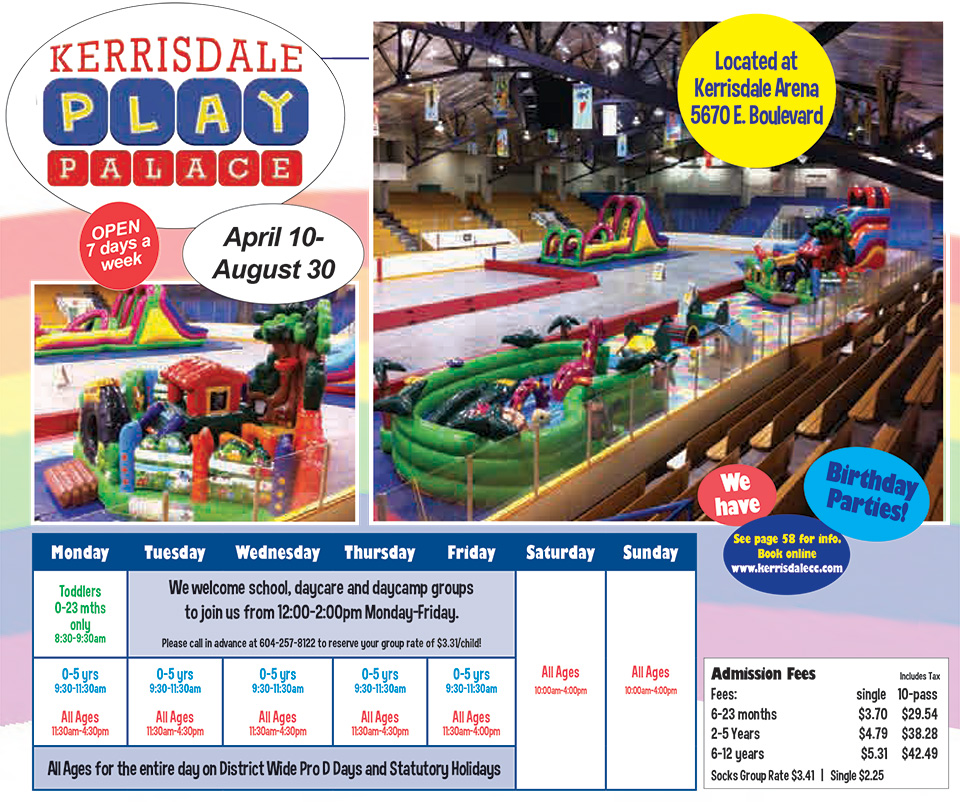 Kerrisdale Play Palace Dropin Schedule 2018
